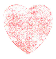 red heart sign watercolor texture vector image vector image