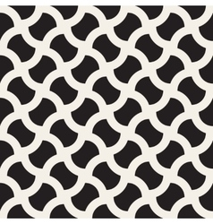 Seamless Black And White Geometric Wavy vector image