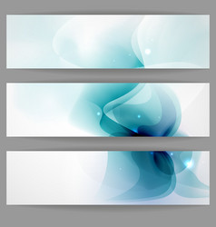 Abstract Banner In Blue Color vector image