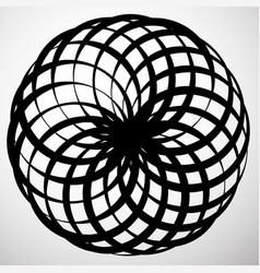 Abstract circular element rotating swirly shape vector