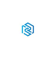 abstract polygon line company logo vector image