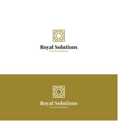 abstract royal minimalistic logo vector image