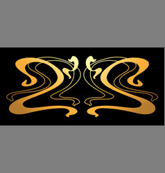 Art nouveau decorative element vector