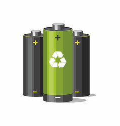 Battery recycling concept vector