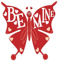 Be Mine Butterfly vector image vector image