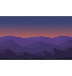 Beautiful landscape hill silhouette vector