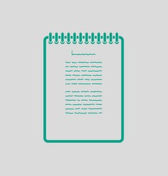 Binder notebook icon vector