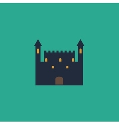 Castle flat icon vector