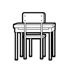 Chair and table design vector