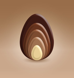 Chocolate slices ellipse shape vector