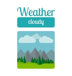 Cloudly weather vector