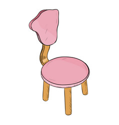color sketch of chair vector image