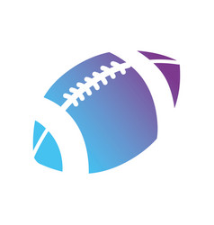 contour ball to play football sport vector image
