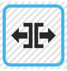 Divide Horizontal Direction Icon In a Frame vector