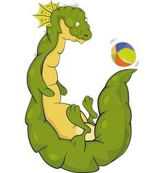 Dragon and a ball vector