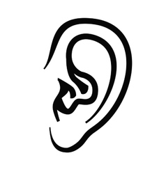 ear icon vector image