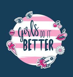 fashion slogan quotes for t-shirt apparels print vector image