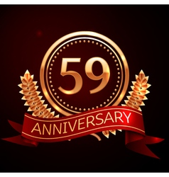 Fifty nine years anniversary celebration with vector