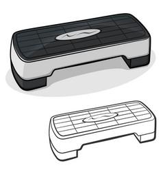 Fitness stepper cartoon vector