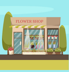 Flower shop background vector
