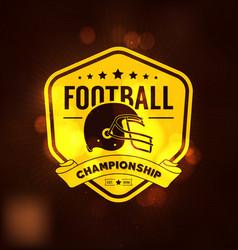 football championship logo sport vector image