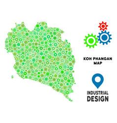 Gears koh phangan thai island map composition vector
