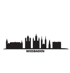 Germany wiesbaden city skyline isolated vector
