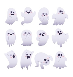 Ghost characters isolated vector image