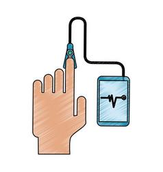 glucometer healthcare icon image vector image
