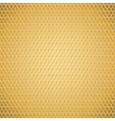 Golden honeycomb texture vector image