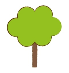 green tree in city scene icon image vector image