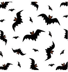 Halloween seamless pattern swarm of black bat vector