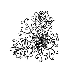 Hand drawn doodle outline magic line art element vector image