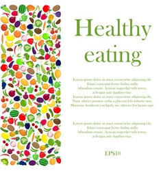Healthy eating background vector