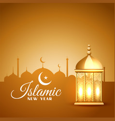 Islamic new year traditional muharram festival vector
