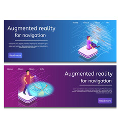 Isometric an online map writing code vector