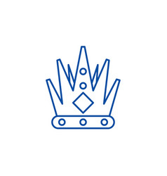 kings crown line icon concept kings crown flat vector image