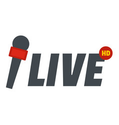 Live icon flat style vector