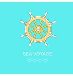 Logo template with wheel vector