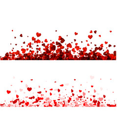 Love valentines banners set with hearts vector