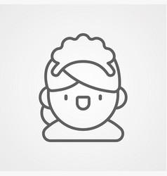 maid icon sign symbol vector image