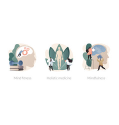 mental and physical health treatment abstract vector image