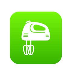 mixer kitchen icon green vector image