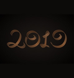 new years 2019 calligraphic inscription vector image