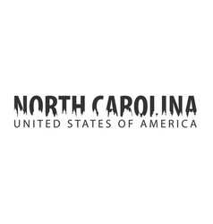 North carolina usa united states of america vector