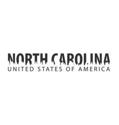 north carolina usa united states of america vector image