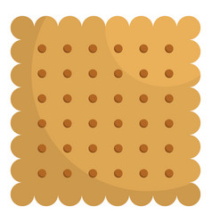 nut biscuit icon flat style vector image