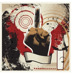 Obscene Gesture vector image