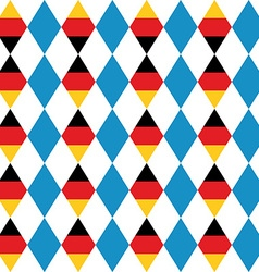 Oktoberfest seamless pattern of blue rhombus vector