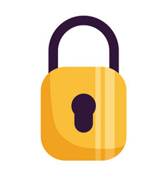 Padlock security protection vector